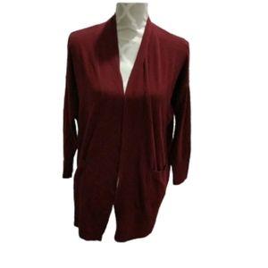 Primark burgundy open cardigan